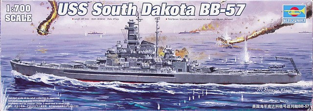 "Trumpeter 1/700 scale model 05760 US Navy BB-57 ""South Dakota"" battleship"