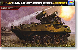 Trumpeter 1/35 scale tank models 00393 LAV-AD 8X8 wheeled artillery air defense gun