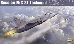 "Hobby Boss 1/48 scale aircraft models 81753 Russian MiG-31 ""foxhound"" interceptor"