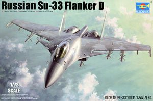"Trumpeter 1/72 scale model 01667 Russian Su-33 ""defender D"" carrier fighter"