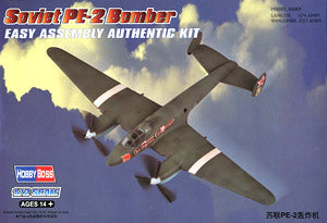 Hobby Boss 1/72 scale aircraft models 80296 Soviet Pe-2 bombers