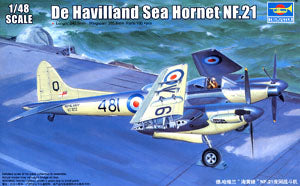 "Trumpeter 1/48 scale model 02895 de Havilland ""sea hornets"" NF.21 night fighter"