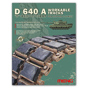 MENG SPS-016 Leopard 1 tanks with D640A Department movable link crawler
