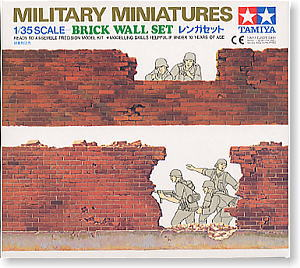 TAMIYA 1/35 scale models 35028 1/35 Military model scene with brick wall