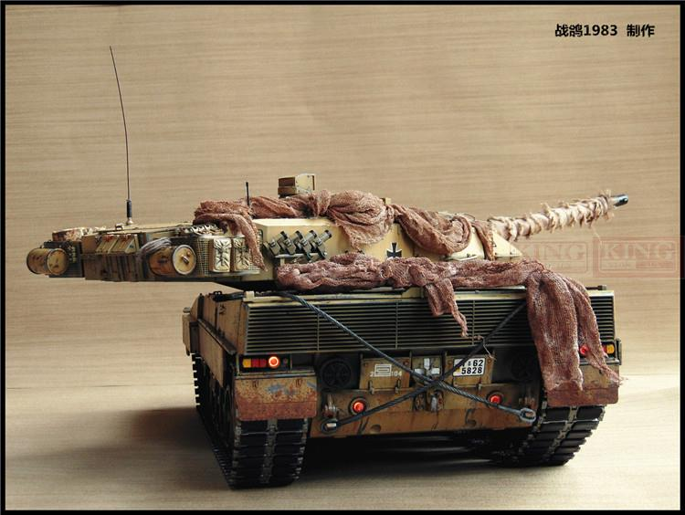 KNL HOBBY Heng Long, 1: 16RC Leopard 2 tank model remote control two foundry heavy coating of paint to do the old