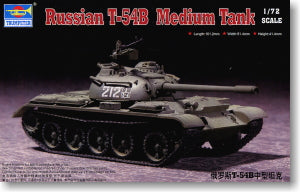 Trumpeter 1/72 scale model 07281 Soviet T-54B medium chariot