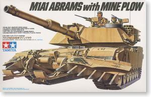 "TAMIYA 1/35 scale models 35158 M1A1 ""Abrams"" main battle tanks and mine clearance shovels"