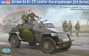 Hobby Boss 1/35 scale tank models 83812 Germany Sd.Kfz.221 Armored reconnaissance vehicle (3 batches) *