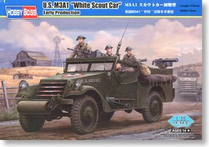 Hobby Boss 1/35 scale tank models 82451 US M3A1 wheeled armored reconnaissance vehicle pre-type