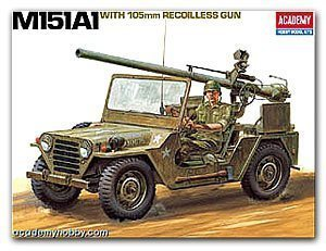 13003 M151A1 105mm Light Combat sport utility vehicle after no ACADEMY recoilless rifles mounted type