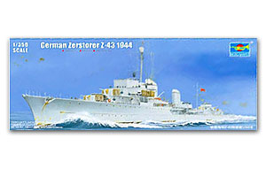 "1/350 scale trumpeter model 05323 German Navy Z - Class ""Z - 43"" Destroyer 1944"