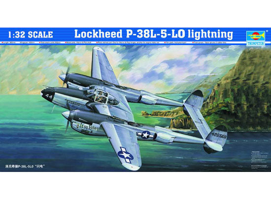 "TRUMPETER 1/32 scale model 02227 Lockheed P-38L-5-LO ""Lightning"" fighter"