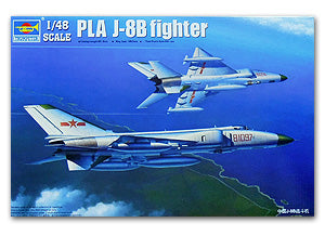 "Trumpeter 1/48 scale model 02845 Shenyang J-8B ""long whale"" interceptor"
