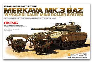 MENG TS-005 Merkava main battle tanks and demining Mk.3 BAZ roll 1/35 scale model