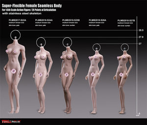 TBLeague headless steel female body Super Flexible Female Seamless body 1/6 scale action figure S24A S25B S26A S27B