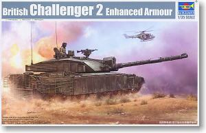 Trumpeter 1/35 scale model 01522 British Challenger 2 main battle tank heavy armor with additional fence type