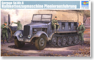 Trumpeter 1/35 scale model 05530 Sd.Kfz.6 5 tonne semi-crawler engineering personnel transport vehicles *