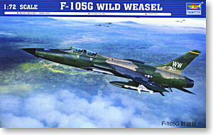 Trumpeter 1/72 scale model 01618 F-105G Wild Weasel Anti-Air Compression Attack