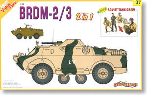 1/35 scale model Dragon 9137 BRDM-2/3 wheeled armored vehicles and vehicle crew