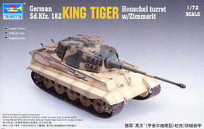 Trumpeter 1/72 scale model 07291 Kfz.182 Tiger King heavy-duty chariot post-type and anti-magnetic drape