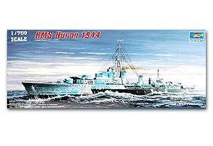 "Trumpeter 1/700 scale model 05759 Canadian Navy Tribe G24 ""Huron"" destroyer 1944"