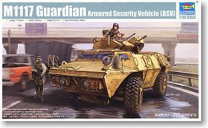 Trumpeter 1/35 scale model 01541 M1117 Guardian 4X4 wheeled armored patrol car