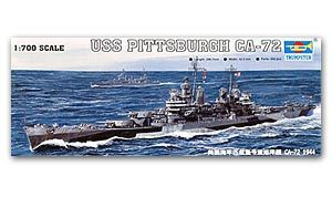 Trumpeter 1/700 scale model 05726 US Navy Baltimore Class CA-72 Pittsburgh Heavy Cruiser 1944