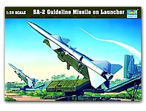 Trumpeter 1/35 scale model 00206 SA-2 Guideline Missile on Launcher