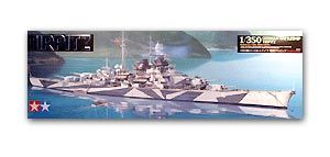 "TAMIYA 78015 World War II German Navy Bismarck ""Tilpitz"" battleship"