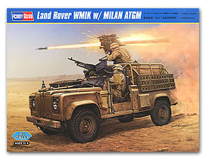 Hobby Boss 1/35 scale tank models 82447 Rand Land Rovere & Guardian & W.M.I.K. Milan Anti Tank Missile ATGM
