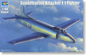 Trumpeter 1/48 scale model 02866 British Navy Super Gray Falcon Attacker F.1 Carrier Fighter *