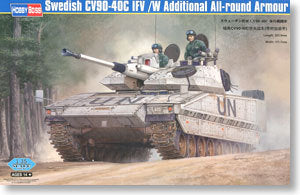 Hobby Boss 1/35 scale tank models 82475 Sweden CV90-40C infantry fighting vehicle with armor type