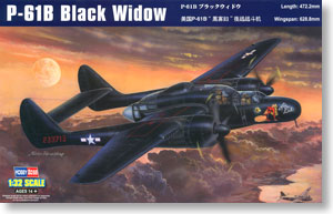 Hobby Boss 1/32 scale aircraft models 83209 P-61B Black Widow Night Fighter