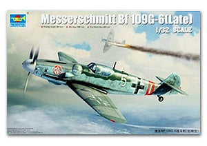 Trumpeter 1/32 scale model 02297 Messers Mitter Bf109G-6 Fighter Latex *