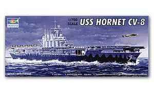 "Trumpeter 1/700 scale model 05727 US Navy York City CV-8 ""Hornet"" Aircraft Carriere"