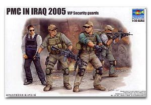Trumpeter 1/35 scale soldier figure model 00420 military contractor in Iraq