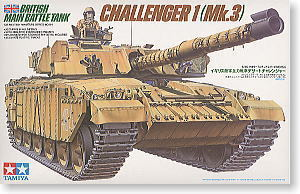 TAMIYA 1/35 scale models 35154 Challenger 1 main battle tank attached heavy armor type
