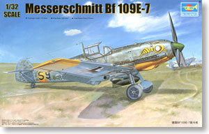 Trumpeter 1/32 scale model 02291 Messers Mitter Bf109E-7 Fighter *