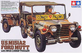 TAMIYA 1/35 scale models 35130 US M151A2 Light combat SUV and uniaxial traction trailer