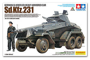 TAMIYA 37024 World War II Germany Sd.Kfz.231 six rounds of heavy armored vehicles