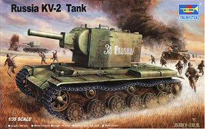 Trumpeter 1/35 scale model 00312 KV-2 heavy chariot