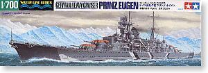 "TAMIYA 1/700 scale model 31805 German navy ""Prince Eugen"" heavy cruiser"