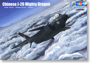 "Trumpeter 1/144 scale model 03923 China J-20 (F-20) ""Veyron"" fighter"