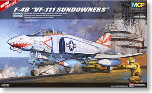 "ACADEMY 12232 F-4B Phantom II fighter aircrafts carriers ""VF-111 shooting days were"""