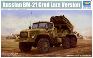 "Trumpeter 1/35 scale model 01014 BM-21 ""hail"" mobile rocket launcher late"