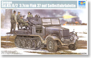 TRUMPETER 05532 Sd.Kfz.6 / 2 5 tons of semi-track on the air tanker Flak37 carrying type *