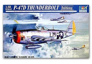 Trumpeter 1/32 scale model 02263 Republican P-47D thunderbolt Bubbletop fighter