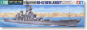 "TAMIYA 1/700 scale model 31614 U.S. Navy Iowa class battleship BB-62 ""New Jersey"""