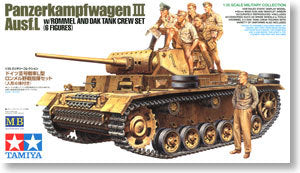 "TAMIYA 32405 3 chariot ""African Army Corps crew crew + Rommel marshal"""