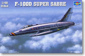"Trumpeter 1/48 scale model 02839 F-100D"" Super Saber"" Two-seater fighter"